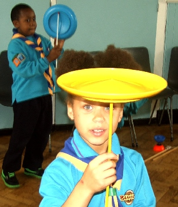 kids parties circus skills with the beaver scouts