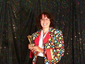 Auntie Julie wins a trophy